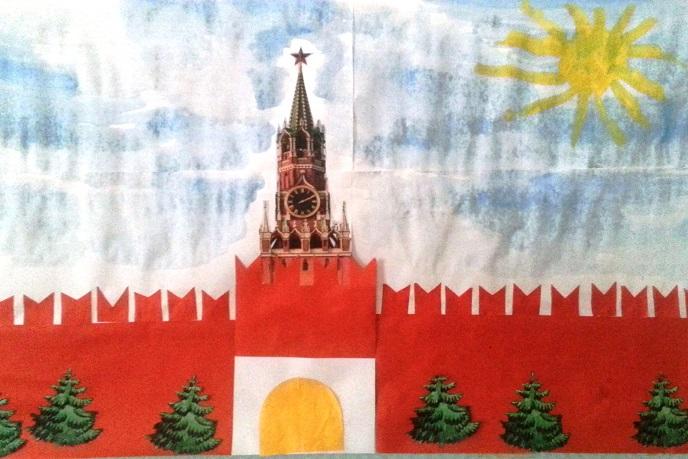 Детские рисунки башни кремля