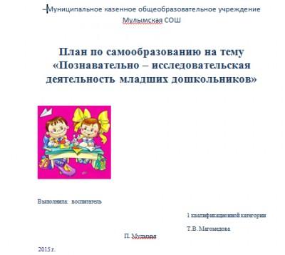 Публикация воспитателя