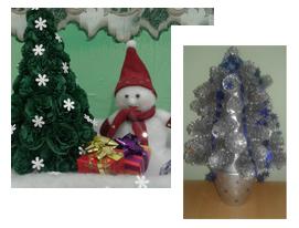 Детские новогодние поделки Креативная Ёлочка Зимняя сказка