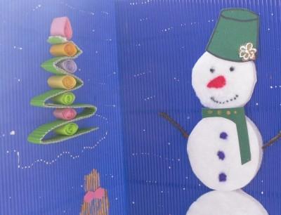 Детские новогодние поделки Новогодняя открытка