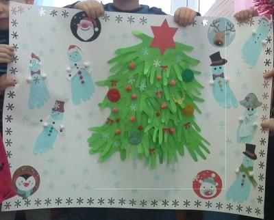 Детские новогодние поделки Наша елочка пушистая