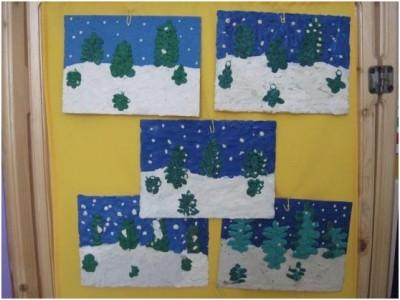 Конспект занятия Зимний еловый лес