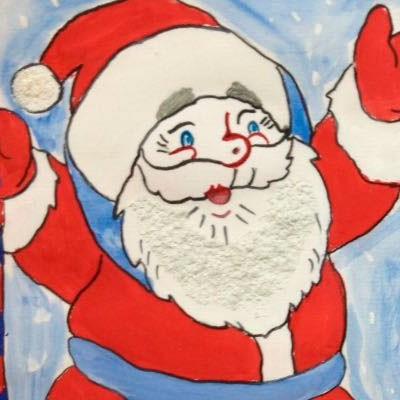 Детские новогодние поделки Добрый дедушка Мороз