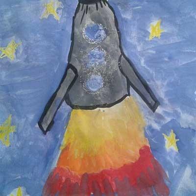 Рисунок Космическая ракета