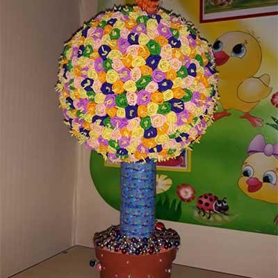 Коллективная работа Цветочное дерево
