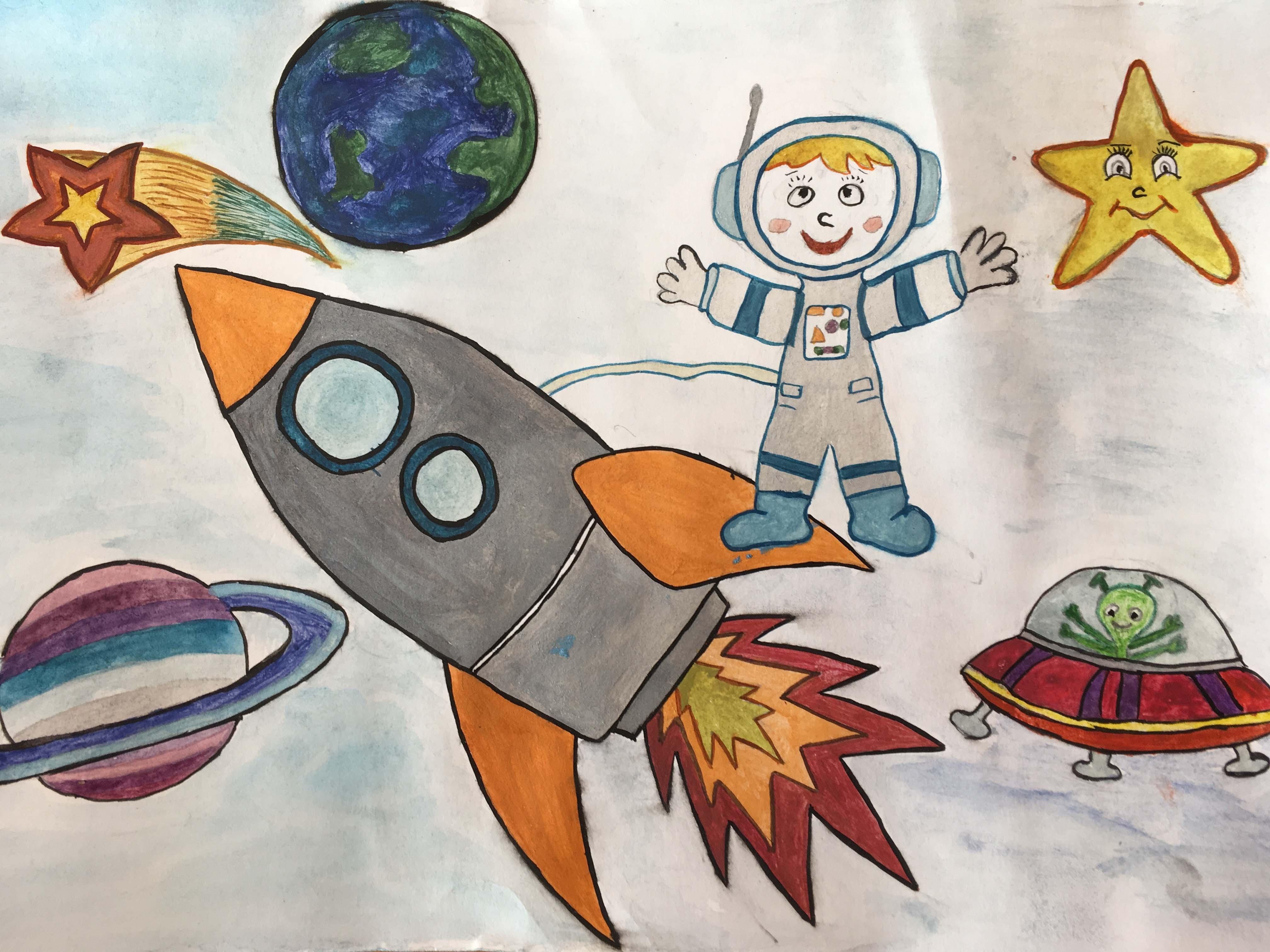 Полёт на луну во сне Удивительный мир - Космос