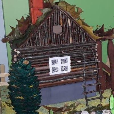 Поделка из природного материала Осень в деревне