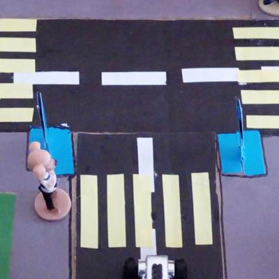 Макет - дорога в детский сад