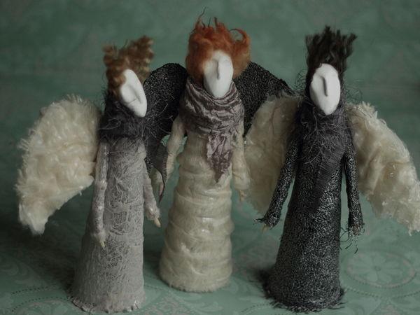 Мастер-класс Зимние ангелы