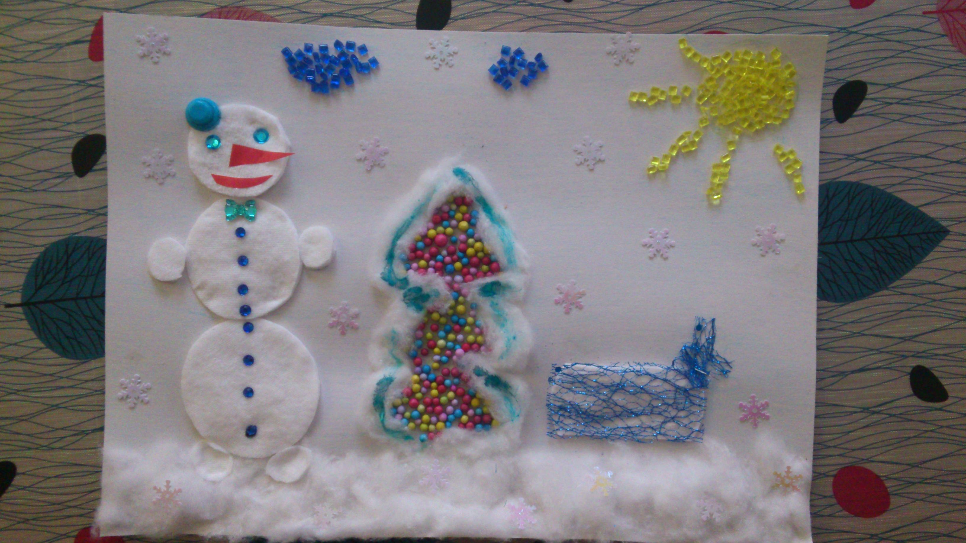 Новогодняя открытка Зимняя сказка