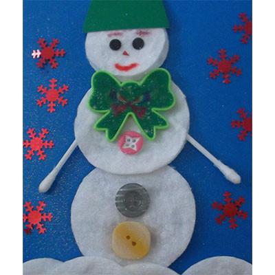 Весёлый снеговик Детские новогодние поделки
