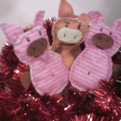 Три Поросёнка Детские новогодние поделки