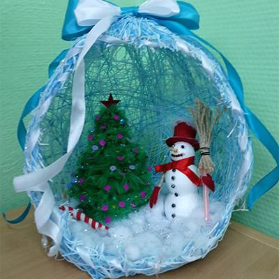 Снеговик Детские новогодние поделки