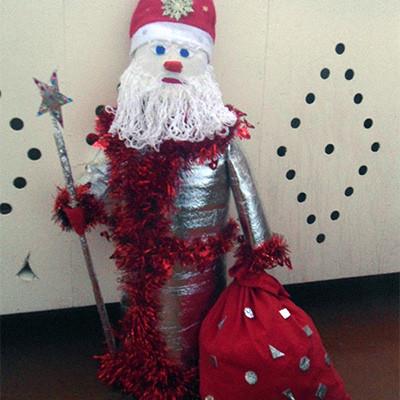 Дед Мороз Детские новогодние поделки