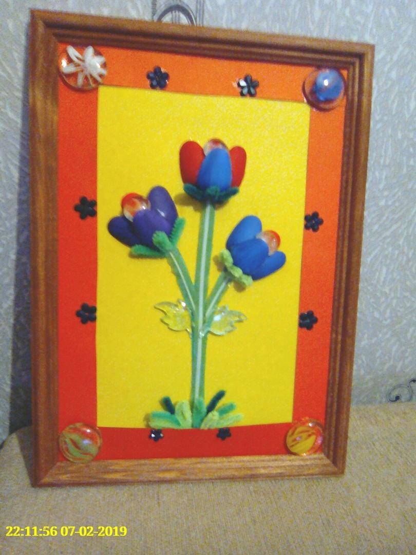 Цветочная картина для мамы 8 марта