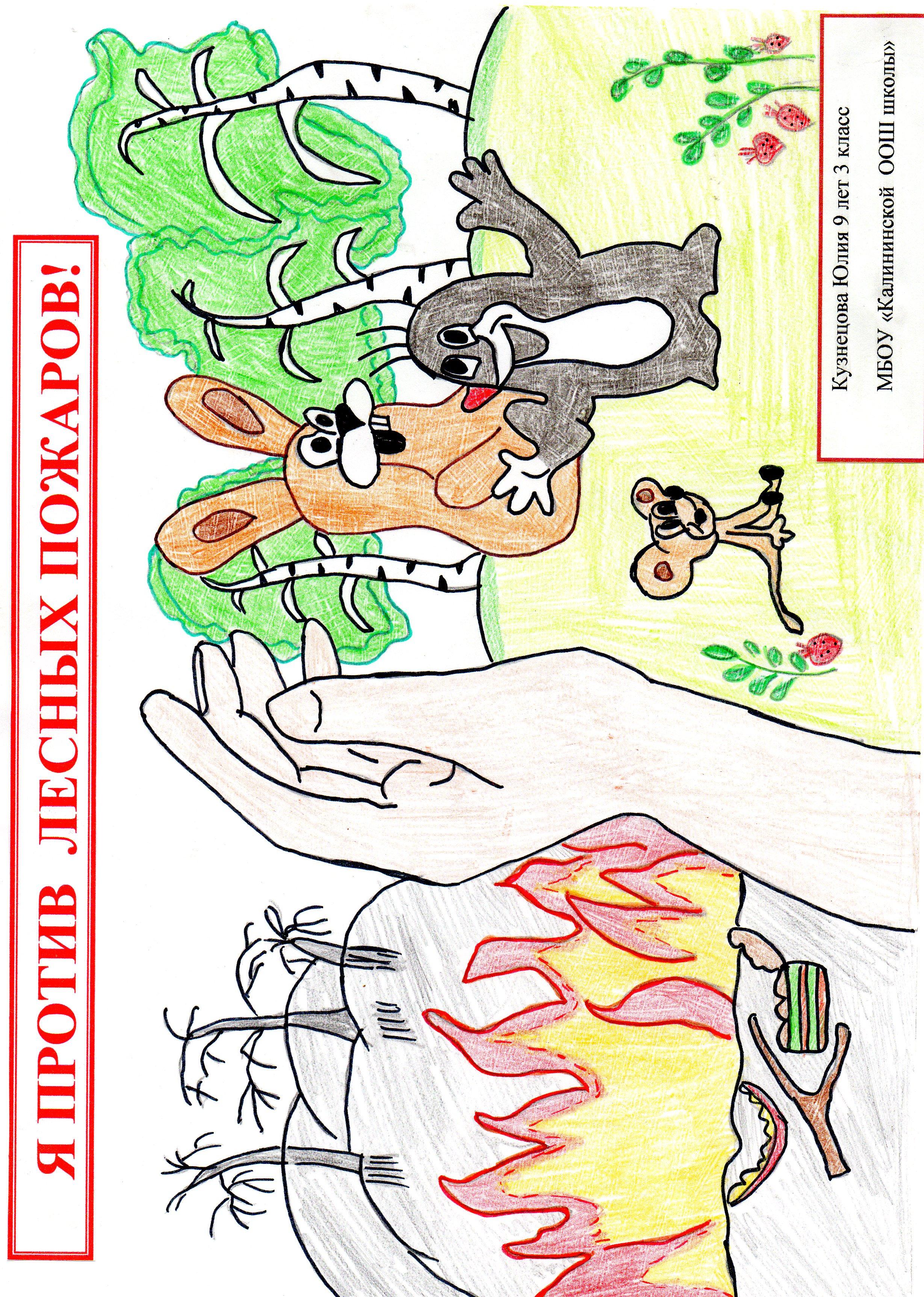 Дети против лесных пожаров
